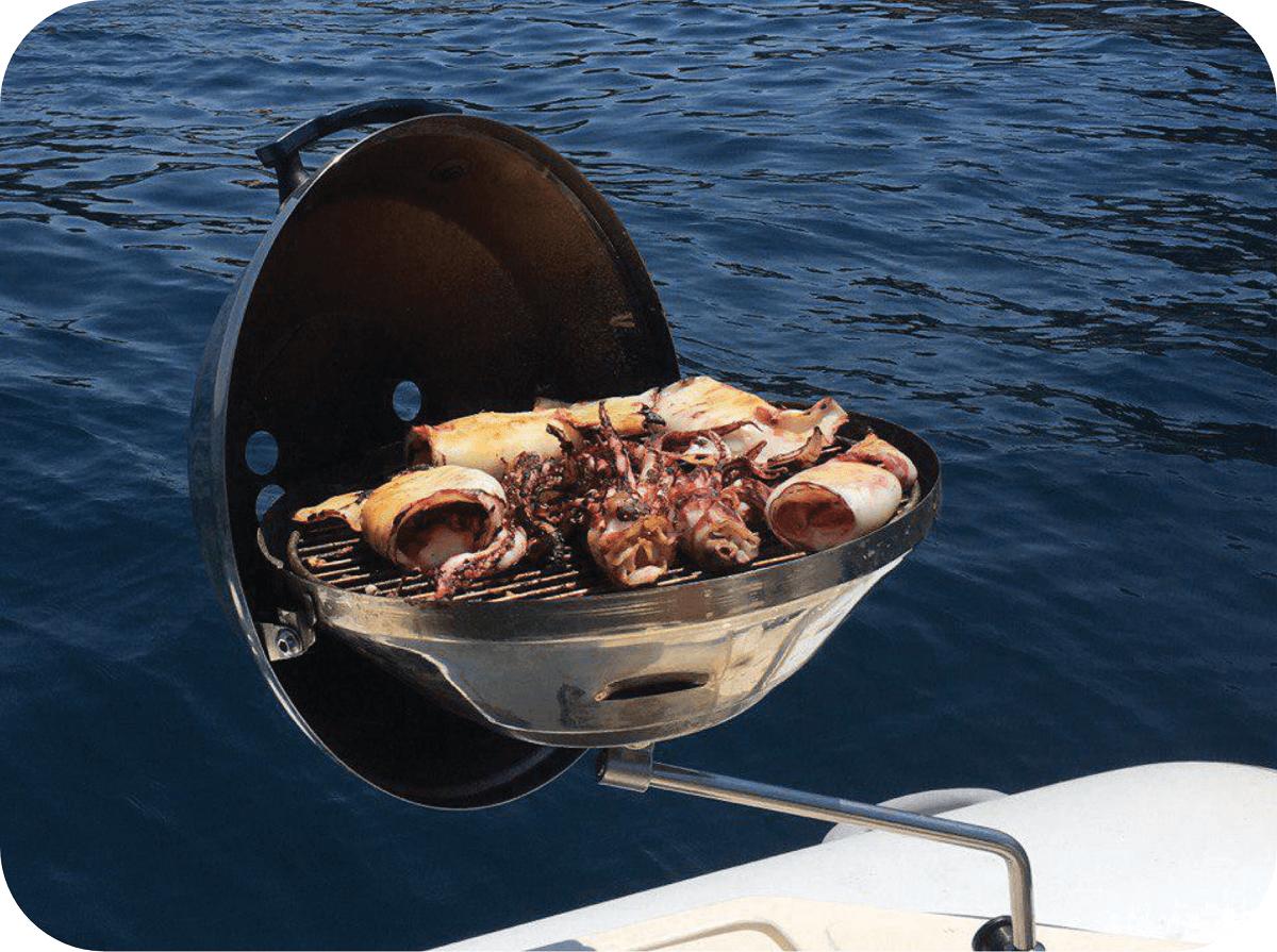 Barbecue a bordo